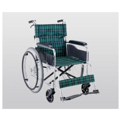 アズワン 車椅子(アルミ製・背折れタイプ) 660×995×875 EW-50GN 1個 [8-7865-11]
