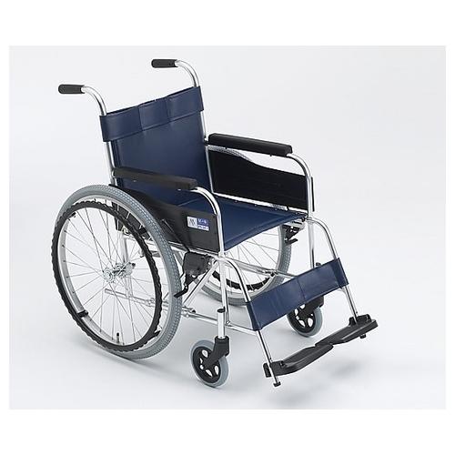 アズワン 車椅子(自走式/アルミ製/ビニールシート) 1台 [8-9409-01]