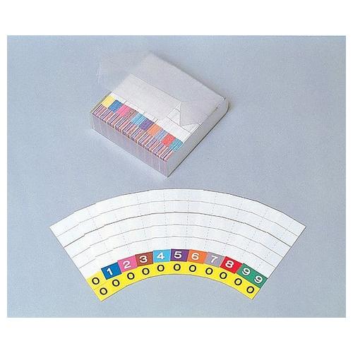 アズワン カラーIDナンバーカード 500枚入 IDC-S7 1箱(500枚入り) [0-2567-01]