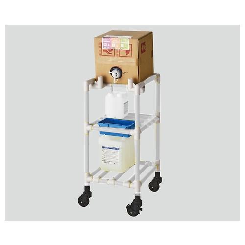 最新作の FSQBC-C アズワン キュービテナーカート(抗菌防カビイレクター(R)) 1個 [8-6547-01]:セミプロDIY店ファースト クリームグレー-DIY・工具