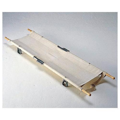 アズワン 四ツ折担架 580×2040mm 6.5kg 把手固定式 アルミ製 1台 [8-3778-02]