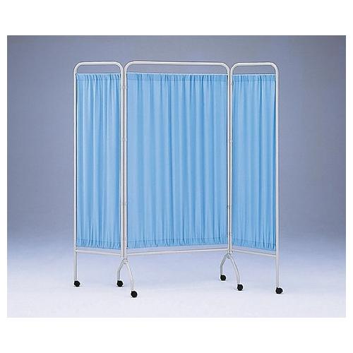 アズワン 衝立[抗菌タイプ] 3枚 ブルー 900mm+450mm×2 1組 [0-5763-01] [個人宅配送不可]