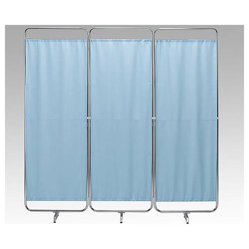 アズワン 収納式カーテンスクリーン 1800×400×1800mm ブルー 1組 [8-7791-01]