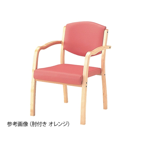 アズワン 椅子 (ホープ) 肘付き (540×590×800mm/オレンジ) HPE-150-V 1脚 [8-1994-01] [個人宅配送不可]