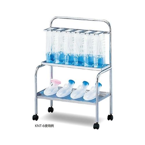 アズワン 貯尿架台[尿器用棚付] 6人用 KNT-6 1台 [0-9947-02] [個人宅配送不可]