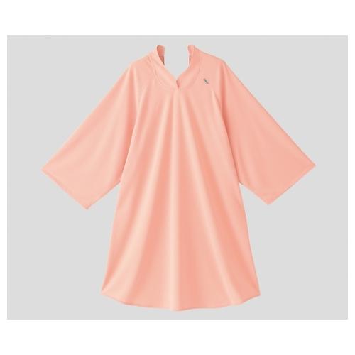 アズワン 抗菌消臭オーバーシャツ(吸汗速乾タイプ) オレンジピンク 1個 [8-9906-01]