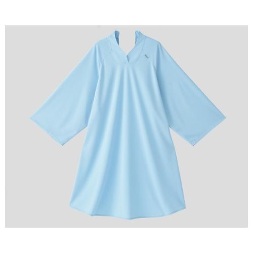 アズワン 抗菌消臭オーバーシャツ(吸汗速乾タイプ) サックス 1個 [8-9906-02]