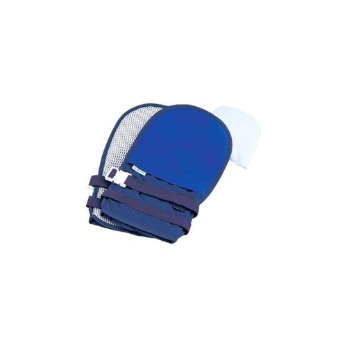 アズワン 抜管防止手袋 中 キルティング ブルー 中ブルー2 1双 [0-1638-62]