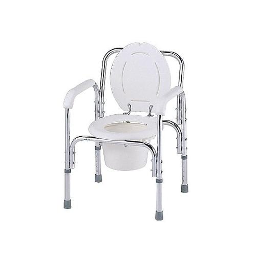アズワン デラックスアルミ製便器椅子 530×455×720~820mm 8500 1台 [0-663-01]