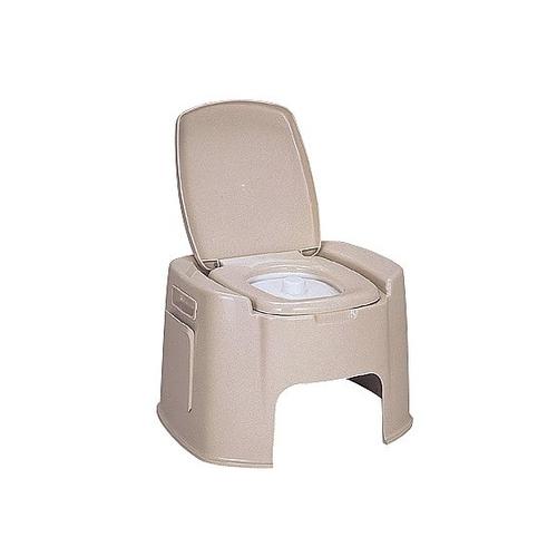 アズワン ポータブルトイレ (570×520×380(360)mm) DX型 1台 [0-3735-01]