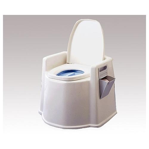アズワン ポータブルトイレ (軽量タイプ/590×555×495(380)mm) PT02 1台 [8-3795-01]