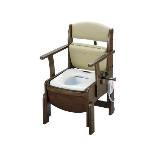アズワン 木製トイレ(きらく コンパクト) 暖房便座 18530 1個 [8-4350-13]