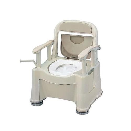 アズワン ポータブルトイレ (座楽) (背もたれ型SP) VALSPTSPBE 1台 [0-7368-01]