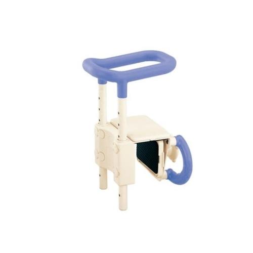 アズワン 高さ調節付浴槽手すり(安寿) ブルー UST-130 1個 [0-3059-22]