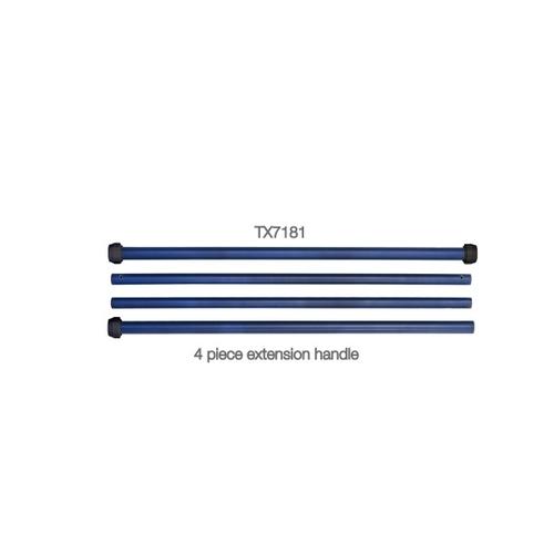 アズワン アルファモップ交換用アルミ製ハンドル 1200~4800mm(テックス・ワイプ社製) 1セット(4本入り) [6-7915-15]