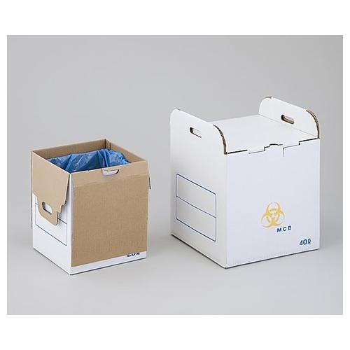 アズワン メディカルクリーナーボックス(鋭利物回収用) 40L MCB40L 1セット(10箱入り) [0-8046-12]