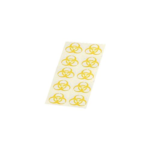 アズワン バイオハザードマークラベル 黄 9cm 黄-9 1袋(1000枚入り) [0-8049-02]