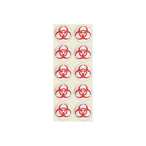 アズワン バイオハザードマークラベル 赤 9cm 赤-9 1袋(1000枚入り) [0-8049-01]