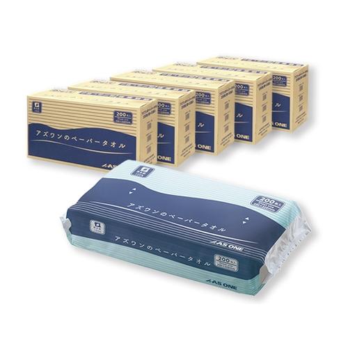 アズワン ペーパータオル 1ケース(200枚/袋×30袋入)×5ケースセット [7-6200-03]