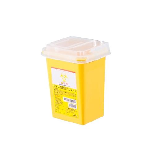アズワン ディスポ針ボックス 黄色1L ケース販売(60個) 1ケース(60個入り) [8-7221-51]