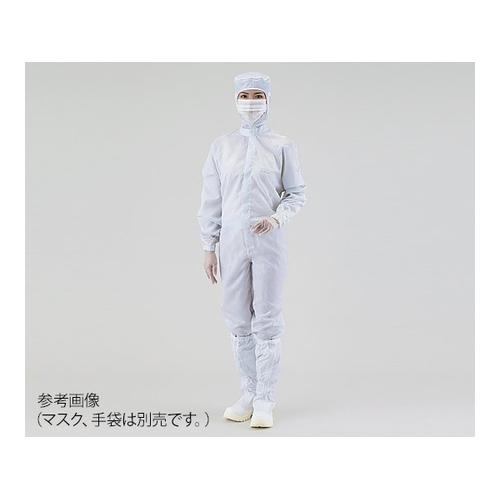 アズワン クリーンスーツ(オールインワン) 4L 白 シューズ25cm 1枚 [4-401-07]