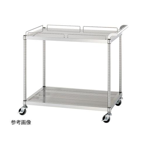アズワン パンチングワゴン(天板ガード付棚2段仕様) 600×450×800mm 1個 [1-7595-11]