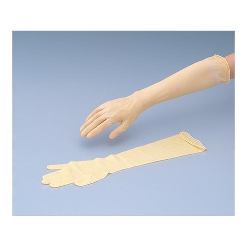 アズワン 天然ゴムロング手袋(長~い手袋) 25双入 1箱(25双入り) [8-5311-03]