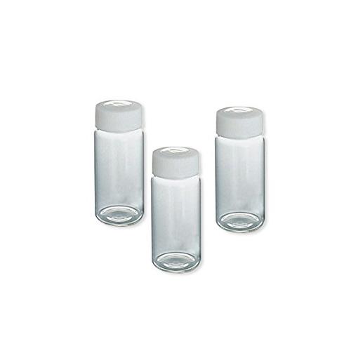 アズワン SCCスクリュー管瓶白 20ml(純水洗浄処理済み) 1箱(10本×5袋入り) [7-2110-07]