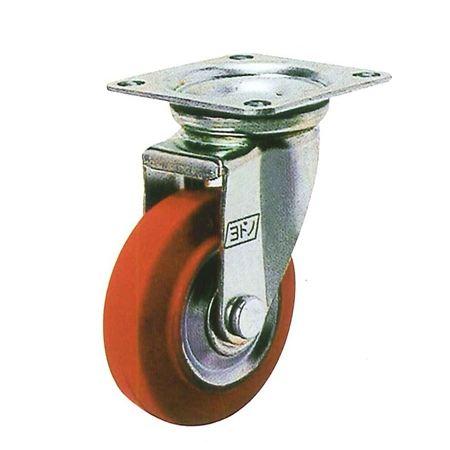 ヨドノ WJ-300 プレス製自在金具付車輪(ゴム黒)