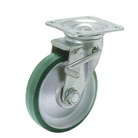 ヨドノ UWJB-250 プレス製自在金具付車輪ブレーキ付(ウレタン)