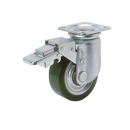 ヨドノ RJMB-150 プレス製自在金具付重荷重用車輪ブレーキ付(ウレタン)