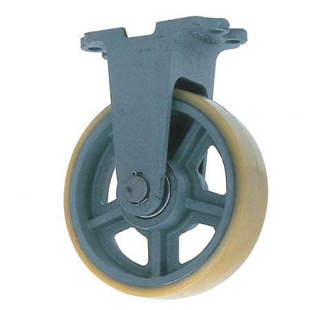 ヨドノ UHBK200-75 重荷重用鋳物製固定金具付ウレタン車輪