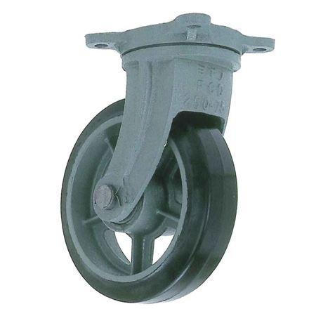 ヨドノ HB-g300×90 重荷重用鋳物製自在金具付ゴム車輪
