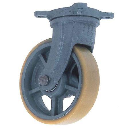 ヨドノ UHB-g250×75 重荷重用鋳物製自在金具付ウレタン車輪