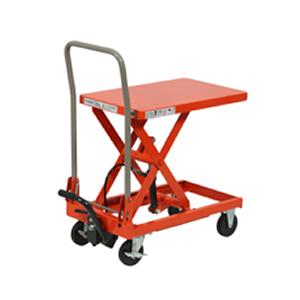 ハマコS.S(浜田工業) テーブルリフト台車(折りハンドル) HLH-120(120kgタイプ) [個人宅配不可]