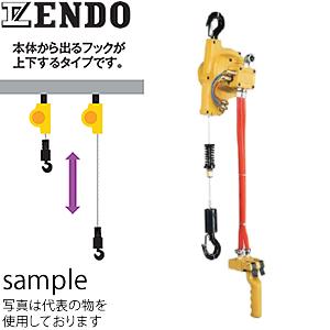 遠藤工業(ENDO) EHW型エアホイスト EHW-120R ワイヤロープ式 フック上下タイプ 120kg 1.9m