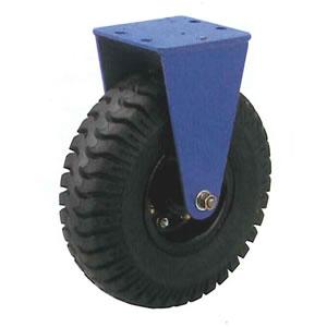 末廣車輌(スエヒロ) UNLV型 ダクタイル金具付 ノーパンクタイヤ車輪キャスター 固定車 車輪300mm