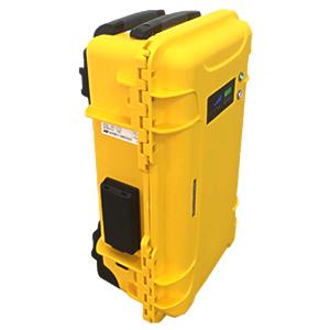 非常時・アウトドアにオールラウンドの可搬型電源 新潟電子工業 キャリングケース型 可搬型蓄電システム (UPS機能付) カラー:イエロー NE-BAT1000-Y [配送制限商品] [送料別途お見積り]