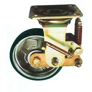 第一ネット 末廣車輌(スエヒロ) PWSS-SP型 スプリングキャスター ストッパー付自由車 手押・牽引兼用 許容荷重120kg:セミプロDIY店ファースト-DIY・工具
