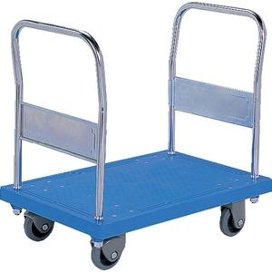 サンコー(三甲) 静か台車 クリーン SM(両袖ハンドル) 805408-11 ブルー 2台セット [個人宅配送不可]