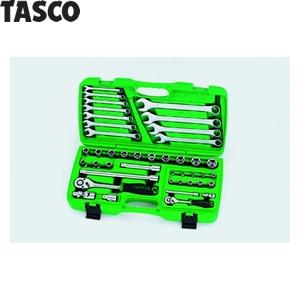 TASCO(タスコ) 1/4″1/2″ソケットレンチセット(全42点) TA730RJ