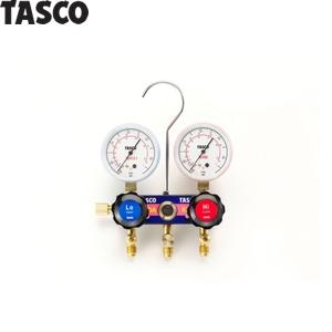 [イチネンTASCO] 空調工具・空調工具・R410A/R32用マニホールド TASCO(タスコ) R410A/R32ゲージマニホールドキット TA122FVH-1