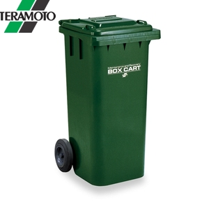 テラモト ボックスカート 120 緑 120リットル DS-224-312-1 [個人宅配送不可商品], ミラノ2:42370deb --- muzo.jp