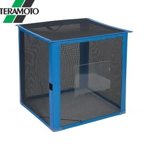 テラモト 自立ゴミ枠 折りたたみ式 黒 700×700×700 DS-261-012-9 [個人宅配送不可商品]