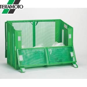 テラモト 自立ゴミ枠II 折りたたみ式 緑 1200×600×880 DS-261-112-1 [個人宅配送不可商品]