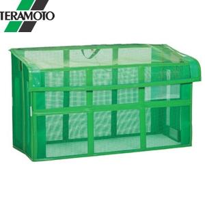 テラモト 自立ゴミ枠II 折りたたみ式 緑 1500×600×880 DS-261-115-1 [個人宅配送不可商品]