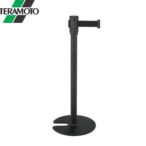 テラモト ベルトパーテーションスタンドD スチール ベルト黒 SU-660-510-7 [個人宅配送不可商品]