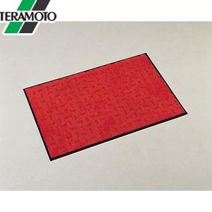レッド エコレインマット MR-026-146-2 テラモト 900×1500mm [個人宅配送不可商品]