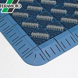 テラモト カラーブラッシュ 青 フチ付 600×900mm 1枚 MR-096-240-3 [個人宅配送不可商品]