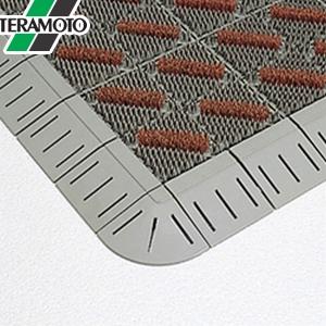テラモト カラーブラッシュ 茶 フチ付 600×900mm 1枚 MR-096-240-4 [個人宅配送不可商品]